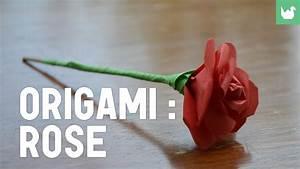 Comment Faire Des Origami : origami faire une rose en papier hd youtube ~ Nature-et-papiers.com Idées de Décoration