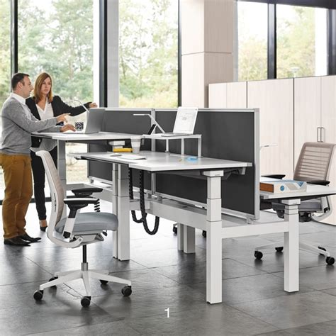 bureau steelcase ology height adjustable bench desks hunts office furniture
