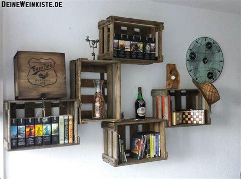 Weinkisten An Der Wand by Die Besten 25 Weinkisten Regal Ideen Auf