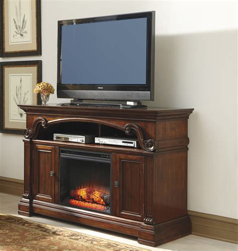 furniture fireplace tv stand alymere large tv stand w fireplace option by