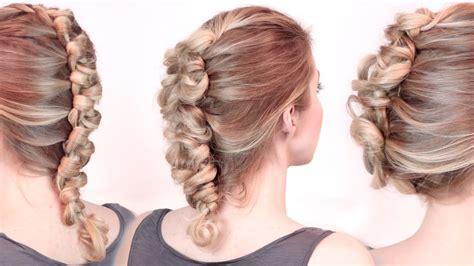Rockstar hairstyles ? Faux hawk braid/updo tutorial ? Loop