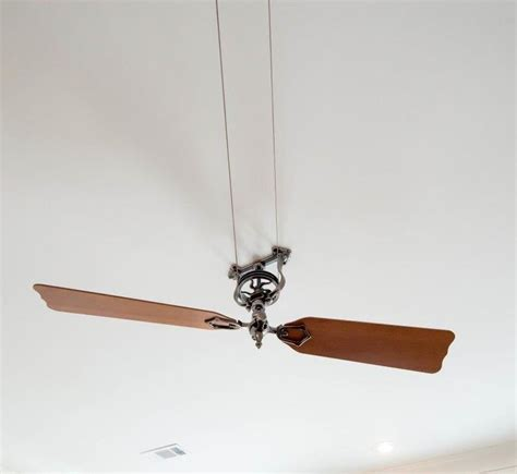 Belt Driven Ceiling Fans Antique by Vintage Style Belt Driven Ceiling Fan With Wooden Blades