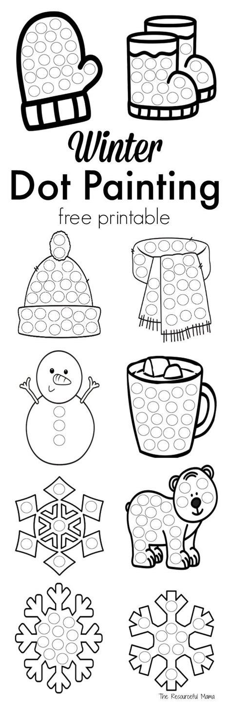 winter dot painting free printable boredom busters 152 | 420cdd8af43c589f37328947d39ccbcb