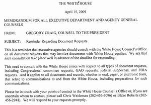 How the White House Targets Document Requesters