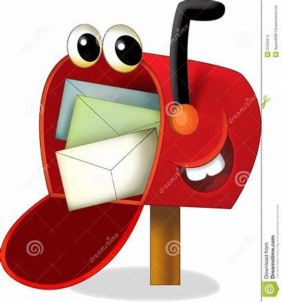 Bambini Mailbox Cartoon Cassetta Disegno Intersection Illustratie
