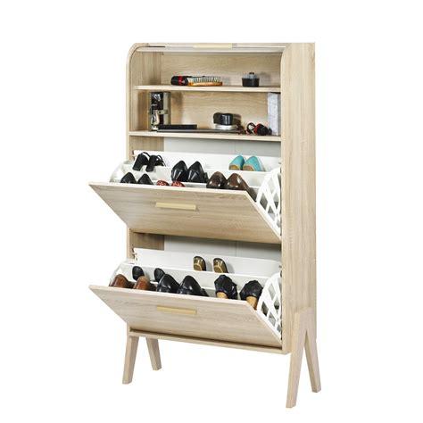 meuble 224 chaussures 18 paires avec 2 tiroirs et un rideau