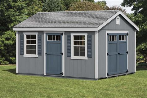 shed of grey sheds barns garages pine ridge barns
