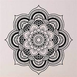 Wall Stickers Mandala Yoga Ornament Indian Buddha Symbol ...