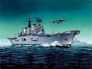 HMS Invincible, Falklands War | Falklands War Art ...