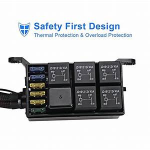 Waterwich 6 Gang Switch Panel Electronic Relay System