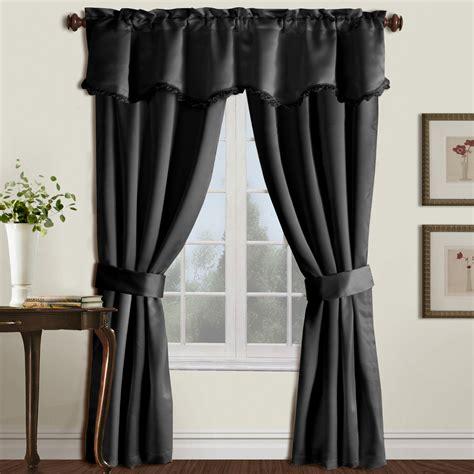 united curtain burlington  piece window curtain set
