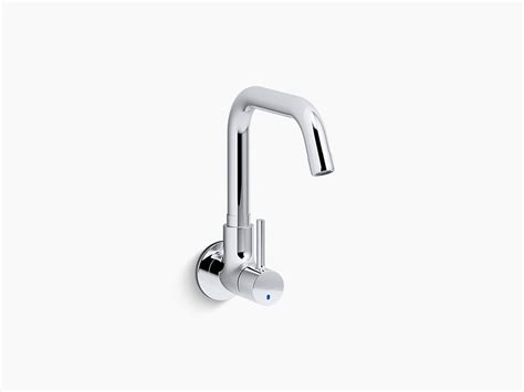 Kohler Wall Mount Kitchen Faucet by Cuff Single Handle Wall Mount Cold Only Kitchen Faucet K