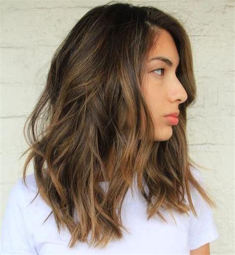 dark brown hair with light brown tips balayage hairstyles for medium length hair