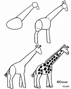 How to draw a giraffe on Pinterest