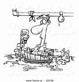 Coloring Plumber Cartoon Plumbing Barrel Outlined Floating Toonaday 1024 Companies Resolution Vecto Rs 1044 Fullsize sketch template