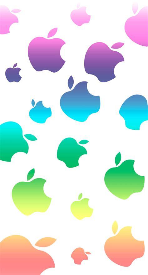 cute colorful apple wallpapersc iphonesplus