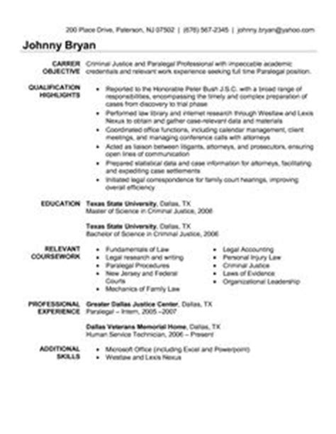 Browse sample resumes for all jobs. Criminal justice resume uses Summary section of the qualifications to highlight your experience ...
