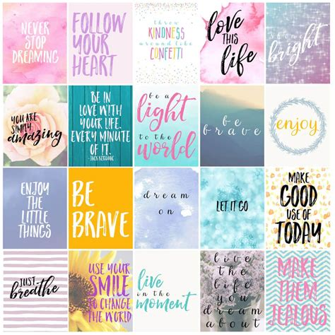 Free Motivational Printable Planner Stickers  Love Paper Crafts