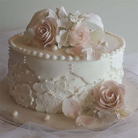 Little Wedding Cakes One Tier Wedding Cakes Simple
