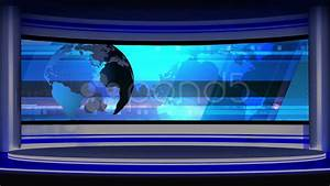 News TV Studio Set 14 - Virtual Green Screen Background ...