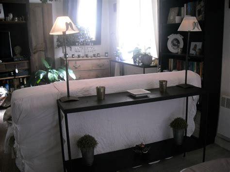 meuble pour mettre derriere canape console dans l enclave