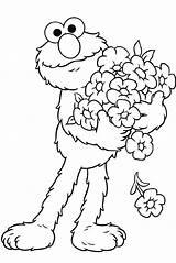 Elmo Coloring Sesame Printable Street Cartoon Lovers sketch template
