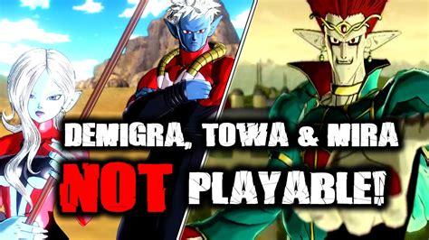 Dragon Ball Xenoverse Demigra Towa And Mira Not Playable