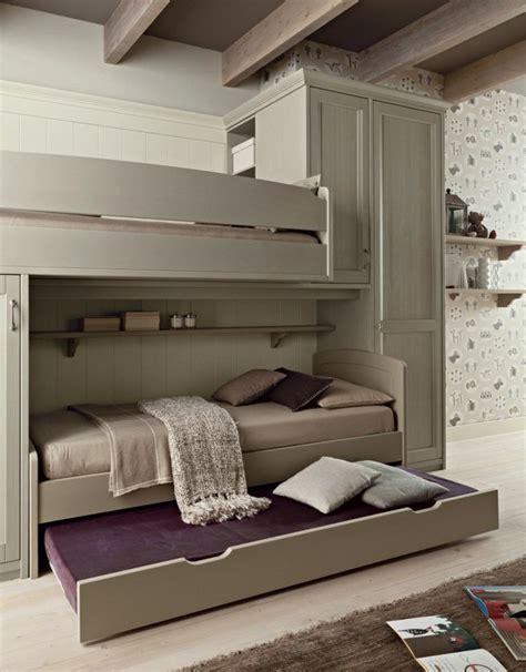 chambre lit pont mobilier chambre enfant naturel fonctionnel moderne