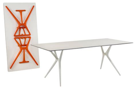 le de bureau kartell table pliante spoon bureau 140 x 70 cm plateau noir