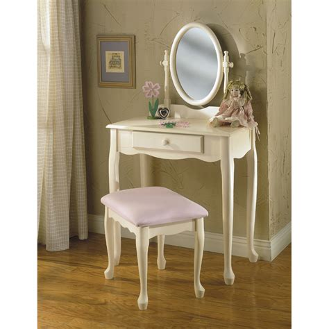 Black Bedroom Vanity With Tri Fold Mirror  Home Delightful