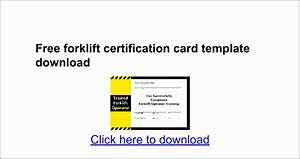 7 forklift certification card template templatesz234 With forklift licence template