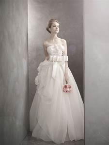 romantic white by vera wang wedding dress onewedcom With vera wang wedding dresses