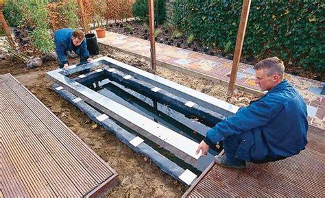 Garten Eckig Gestalten by Gestaltung Eines Rechteckigen Teichbecken Wasserbecken