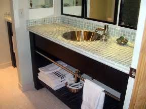bathroom vanity top ideas bathroom decor vanity glass tile counter top bathrooms counter top vanities and