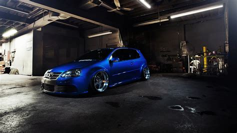 Tuning Wallpaper by Volkswagen Car Tuning Golf Gti Blue Cars Wallpapers Hd