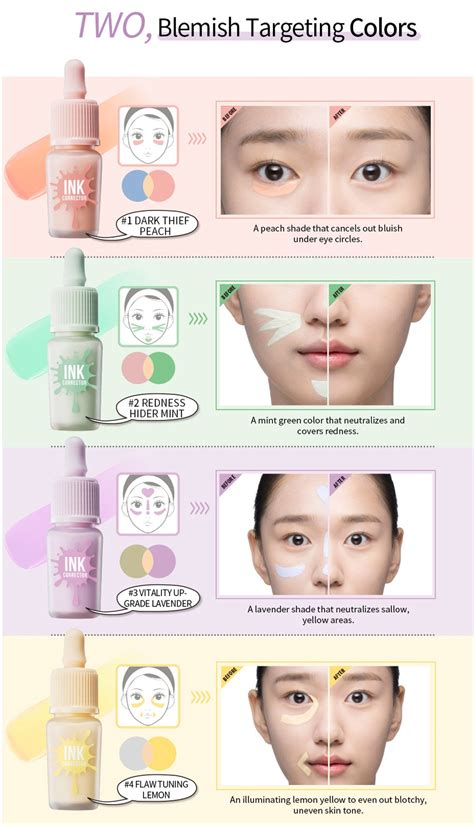 lavender color corrector peripera ink corrector color correcting makeup base