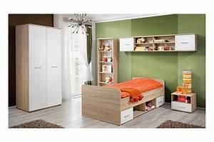 Chambre Enfant Blanc : chambre coucher enfant bois blanc novomeuble ~ Teatrodelosmanantiales.com Idées de Décoration