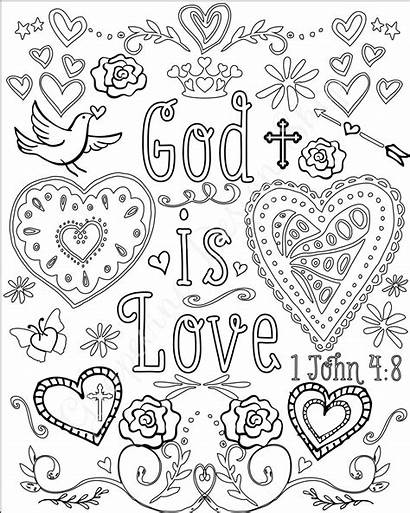 Bible Coloring Pages Verse Christian Sheets Scripture
