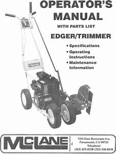 Mcclane 101 3 5rp 7 User Manual Edger  Trimmer Manuals And