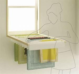 Blindry the window blind fold-down laundry rack My