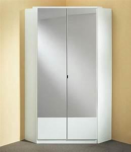Meuble D Angle Chambre : armoire d 39 angle imago blanc ~ Teatrodelosmanantiales.com Idées de Décoration