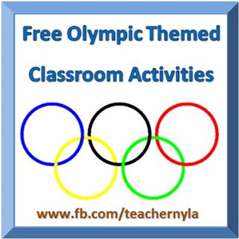 Pay Teachers Teaching And The O 39 Jays On Free Olympic Activities And Printables For Students