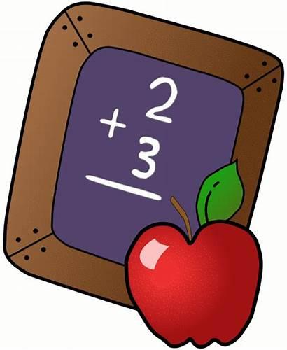 Classroom Clipart Clip Learning Apple Math Teacher