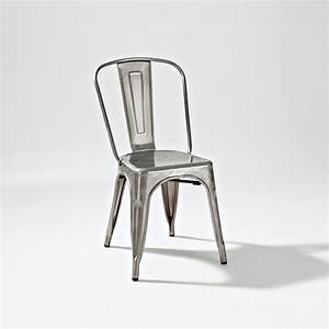 Crosley Furniture Amelia Metal Cafe Chair In Galvanized