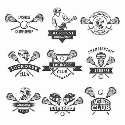 Lacrosse Vector Team Labels College Sport Clipart