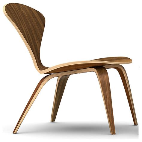 chaise cherner cherner lounge chair with no arms in walnut
