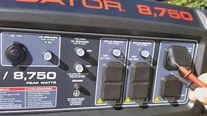 Predator 8 750 Generator Start Up And Voltage Check