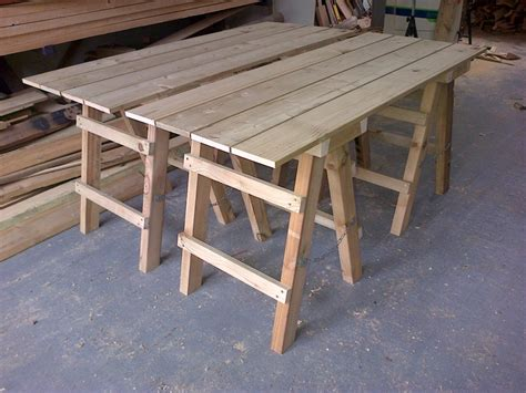 collapsible trestle tables  wooden workshop oakford