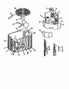 York Model E1ra050s06a Air Heat Pump Outside Unit  Genuine Parts