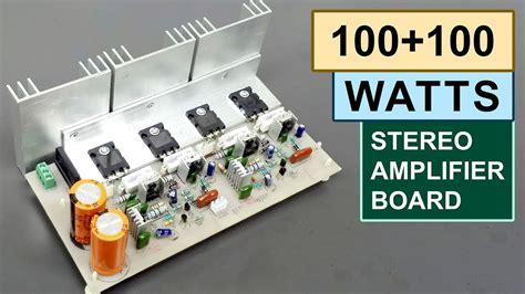 watts stereo amplifier board diy toshiba sc